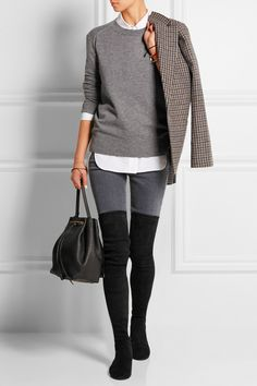 Isabel Marant | Brenna suede over-the-knee boots  | NET-A-PORTER.COM