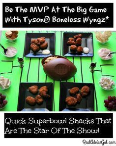 Be the MVP on your game day party. Serve delicious game day snacks, grab your game day food at Sam's Club and don't forget to use our Tyson® Boneless Wyngz*  coupon. #ad