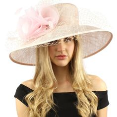 "Elegant Dome Simamay Feathers Overlay Netted Derby Floppy 6"" Brim Dress Hat Black at Amazon Women's Clothing store:"