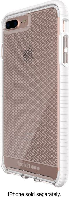Tech21 - EVO Check Case for Apple® iPhone® 7 Plus - White/Clear, 47734BBR #iphone7pluscase
