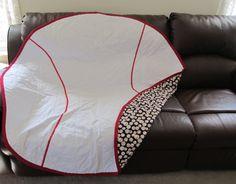 Baseball Blanket by GPsPlace on Etsy, $75.00