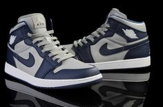 dc3129383c8016 Find Discount Nike Air Jordan 1 Mens Air Cushion Grey Navy Blue Shoes  online or in Footlocker. Shop Top Brands and the latest styles Discount  Nike Air ...