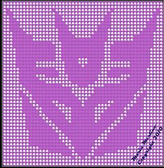 Ravelry: Deceptaconbot Filet or Tapestry Afghan Chart Graph pattern by Maria Merlino
