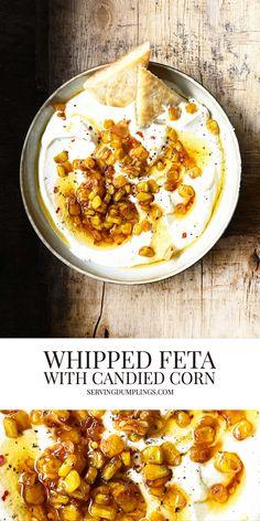 Best Lunch Recipes, Best Vegetarian Recipes, A Food, Good Food, Yummy Food, Full Fat Greek Yogurt, Veggie Platters, Whipped Feta, Feta Dip