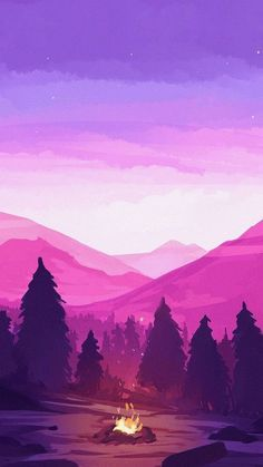 Snowy mountain with sunrise illustration Wallpaper Pastel, Anime Scenery Wallpaper, Aesthetic Pastel Wallpaper, Landscape Wallpaper, Galaxy Wallpaper, Nature Wallpaper, Aesthetic Wallpapers, Wallpaper Backgrounds, Dark Wallpaper