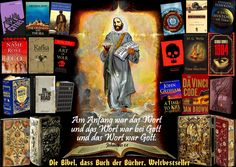 """""""JOHN 1:1 In the beginning was the Word, and the Word was with God, and the Word was God.  The Bible, book of books, world bestseller"""" art work by Paul Maler"""