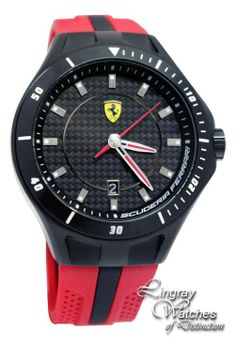 Scuderia Ferrari - Mens Black & Red Race Day Watch - 0830080 Online price: £175.00 www.lingraywatches.co.uk