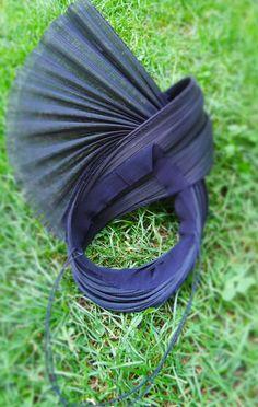 3c93357b883 Buntal   Jinsin   Silk Abaca · Taffy Fascinator Cocktail Hat in Black  Jinsin Straw by JasminZorlu