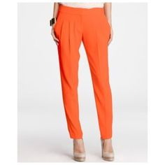 Ann Taylor Romance Pant Gently worn. relaxed style, beautiful drape and head-over-heels color. Front zip with double hook-and-bar closure. Front pleats. Front off-seam pockets. Back flap welt pockets. 31 inch inseam. More pictures soon. Ann Taylor Pants