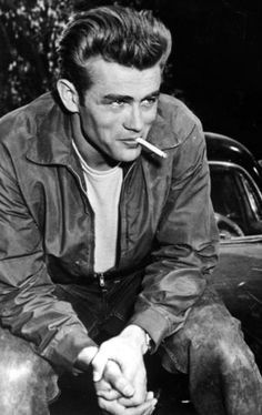 "The pompadour, made popular by such movie stars as James Dean, was common among teenage boys in the 1950s and was a trademark of the ""greaser"" fashion"