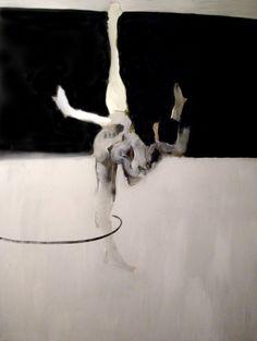 "Saatchi Art Artist Mikołaj Obrycki; Painting, ""Lila"" #art Saatchi Art, Horses, Art Prints, Black And White, Canvas, Hula Hoop, Artist, Animals, Painting"