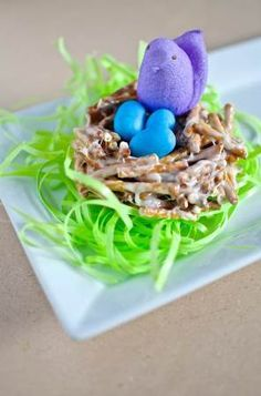 This looks so cute & festive! This unique Robins Nest recipe is fun for children to make with parents.