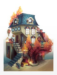 Tea house by Ewreilyn on DeviantArt