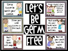 Let's be Germ Free Bulletin Board - Great for Pre-K Complete's Health & Germs theme! Repinned by Pre-K Complete - follow us on our blog, FB, Twitter, & Google Plus!