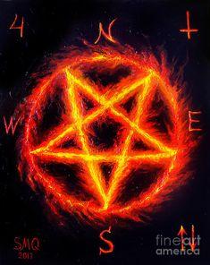 Hail 666 by Sofia Metal Queen Wiccan Wallpaper, Dark Wallpaper, Satanic Star, Demon Symbols, Supernatural Symbols, Satanic Tattoos, Inverted Pentagram, Aesthetic Lockscreens, Vampire Art