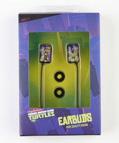 Favorite tunes are made all the better when they're shared with favorite characters. This pair of Teenage Mutant Ninja Turtle earbuds helps little audiophiles enjoy their favorite songs in style.