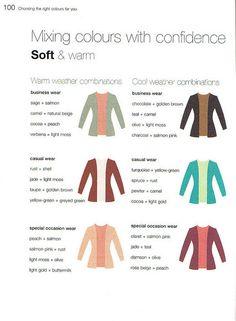 Color Me Confident - Soft & Warm Combinations