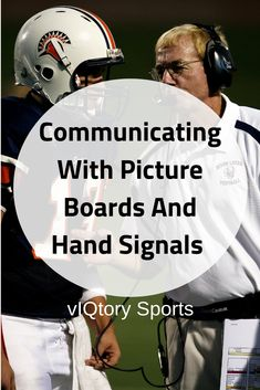 We show you how coaches properly communicate to their quarterbacks and offenses using picture boards and hand signals. Tackle Football, Football Drills, Football Team, Hand Signals, Picture Boards, Effective Communication, Lineman, Great Videos, American Football