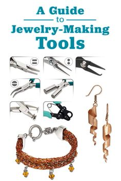 What are the best pliers for jewelry making? What are jewelry pliers used for? See our guide for answers to questions like these. - Fire Mountain Gems and Beads Diy Jewelry Unique, Handmade Wire Jewelry, Wire Wrapped Jewelry, Jewelry Art, Beaded Jewelry, Jewelry Crafts, Vintage Jewelry, Jewelry Making Tutorials, Jewelry Making Supplies