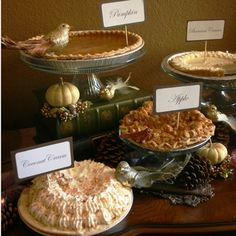 Fall pie buffet