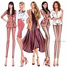 By Anna Shershen Dress Design Sketches, Fashion Design Sketchbook, Fashion Design Drawings, Fashion Sketches, Fashion Drawing Dresses, Fashion Illustration Dresses, Croquis Fashion, Fashion Artwork, Illustration Mode