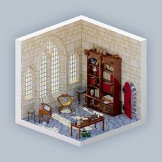 The alchemists' laboratory  After the last render I decided to take the isometric room design a step further. I wanted to create a colored light coming from a set of stained glass windows. The kind you get when walking into a medieval church.  Tell me what you think: What kind of room should I build next? I'd love to hear your thoughts! I'll make a selection from your suggestions for the next post!  #3d #sketchup #render #isometric #room #space #alchemy #alchemist #gothic #light #medieval…