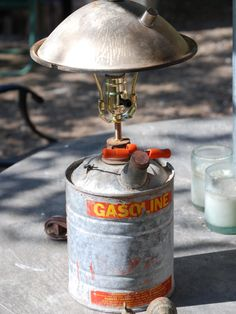 Rat Rod, Gas Can Lamp, Repurpose Furniture by CatkinsCreations on Etsy