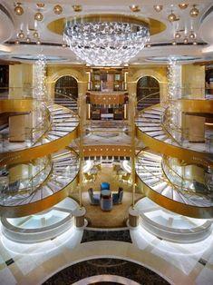 Royal Princess Cruise Ship ~ Travel in Style ✈ Royal Princess Cruise Ship, Princess Cruises, Cruise Travel, Cruise Vacation, Glass Installation, Luxury Yachts, Luxury Cruises, Royal Caribbean, Florida