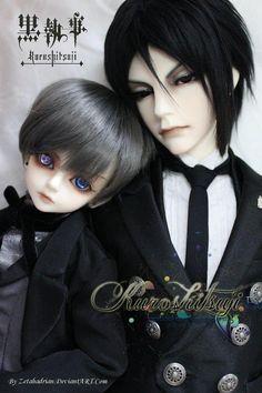 BJD Ciel Phantomhive e Sebastian Michaelis - Kuroshitsuji