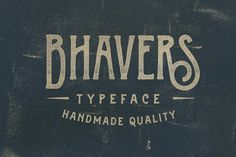 Lovely vintage deco-style display typeface. $15 | Check out Bhavers Typeface by ilhamherry on Creative Market