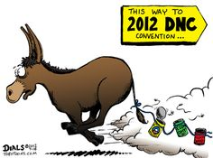 Lookout!  All those donkeys running away from the convention.