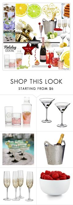 """""""Holiday Cocktails"""" by mcheffer ❤ liked on Polyvore featuring interior, interiors, interior design, home, home decor, interior decorating, Mark & Graham, Riedel, NOVICA and Dot & Bo"""