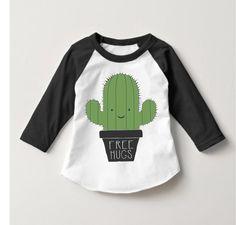 https://www.etsy.com/shop/RulerandRebel?ref=search_shop_redirect  Cactus shirt, boys fashion, toddler fashion, kids fashion, free hugs, raglan, t-shirt, American apparel, cactus