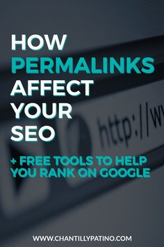 How permalinks affect your SEO // A great WordPress tutorial on for customizing your permalinks. Also, learn more about how permalinks affect SEO, and get free tools to help you rank on Google.