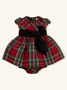 Tartan Silk Taffeta Dress - Layette Dresses & Rompers - RalphLauren.com