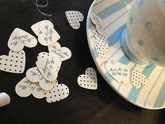 100 Personalised Wedding Heart Confetti,Table decor, High Quality Item