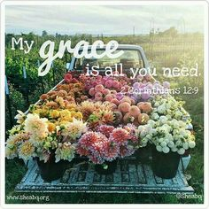 * And He said to me, My grace is sufficient for you, for My strength is made perfect in weakness.* 2 Corinthians 12:9  Good morning, ladies!  Remember today that we are fully equipped to face anything because His grace is sufficient. #sheabq #grace #GodsGlory #strength #covenant #love #hope #joy #morninginspiration #sheministries