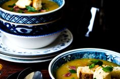Recipe: Thick pea, ham and vegetable soup Ham And Vegetable Soup Recipe, Ham Soup, Food And Thought, Green Peas, Recipes From Heaven, Main Meals, Thai Red Curry, Yummy Food, Dinner