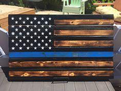 Thin Blue Line American Flag by JLoLZhobbies on Etsy
