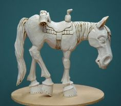 OutWestWoodCarving: Carving A Cowboy On His Horse-Part 6-Finishing Up The Horse