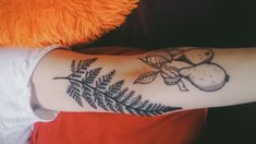 Love my new tattoo fern and pear botanical by Laura Swift