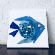 Blue Glass Fish art