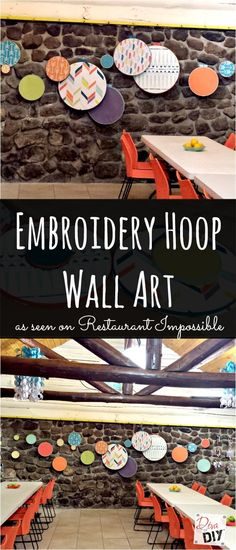 How To Make Embroidery Hoop Wall Art http://divaofdiy.com/embroidery-hoop-wall-art/