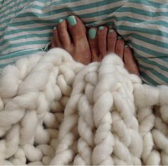 That's what Sundays are for!  Loopy Mango chunky throw available ready made or as a DIY knit kit on loopymango.com