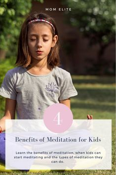 Benefits of Meditation for Kids - Mom Elite Types Of Meditation, Easy Meditation, Meditation Benefits, Hair Growth Home Remedies, Home Remedies For Acne, Stem For Kids, Yoga For Kids, Get Healthy, Healthy Tips