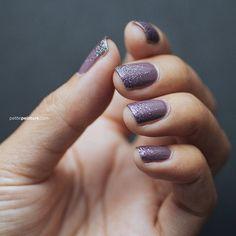 Dusty purple with glitter gradient