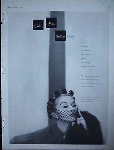 1950 Vintage Carson Pirie Scott & Co Petal Coif John Frederics Womens Hat Ad
