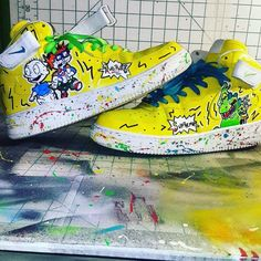 official photos e5745 369a0 Nike Air Force 1 Supreme x LV x RugRats - Hightop AF1 Custom Shoes