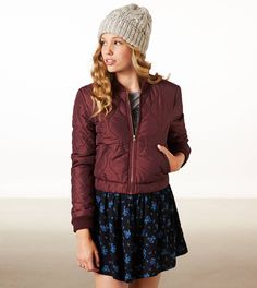 AE quilted Baseball Jacket<3 Get a discount: http://studentrate.com/itp/get-itp-student-deals/American-Eagle-Outfitters-Student-Discounts--/0