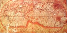 17th century Jesuit Chinese world map.